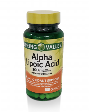 Alpha Lipoic Acid Spring Valley – 200mg – 100 Caps