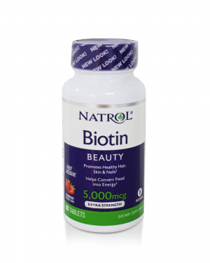 Natrol Biotina Beauty – 5 000 mcg – 90 tablets